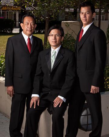 Ron, son père et son frère