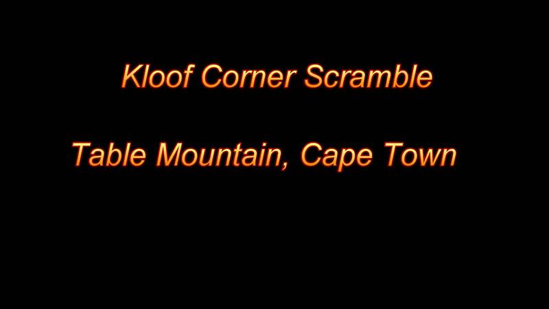 Kloof Corner Scramble on Table Mountain