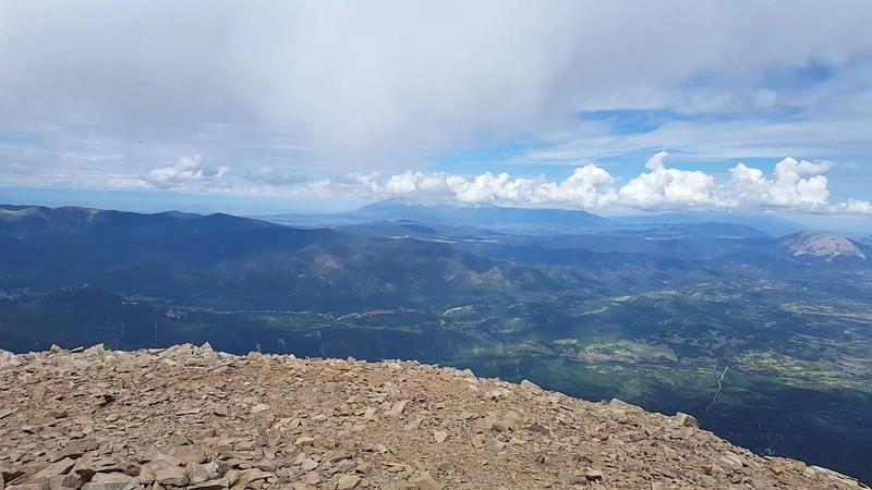 Video view from the Summit of Spanish West Peak, La Veta, Colorado July 2017