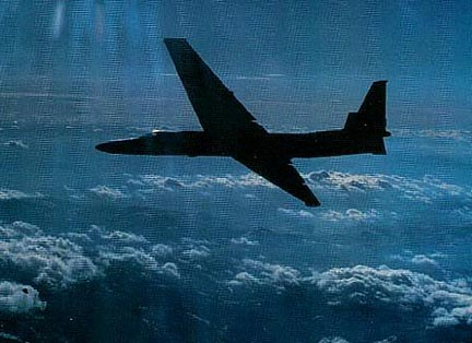 "The Lockheed U-2, nicknamed ""Dragon Lady"", is a single-engine, very high-altitude reconnaissance aircraft operated by the United States Air Force (USAF) and previously flown by the Central Intelligence Agency (CIA). It provides day and night, very high-altitude (70,000 feet / 21,000 meters), all-weather intelligence gathering.[1] The aircraft is also used for electronic sensor research and development, satellite calibration, and satellite data validation."