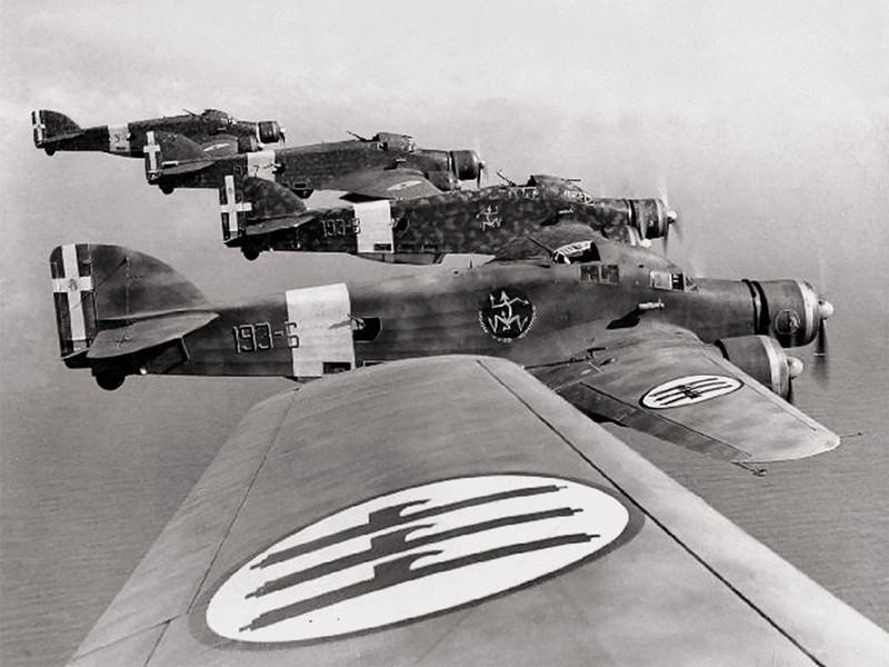 Italian 303 Bombers over N Africa