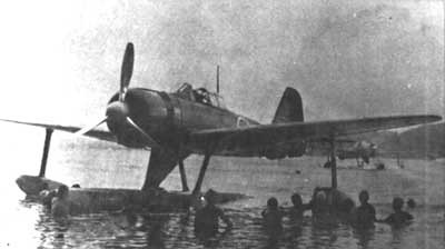 The A6M2-N float plane version of the Zero did extremely well, suffering only a small loss in its legendary maneuverability. Top speed was not affected, however, the aircraft's relatively light armament was a detriment.