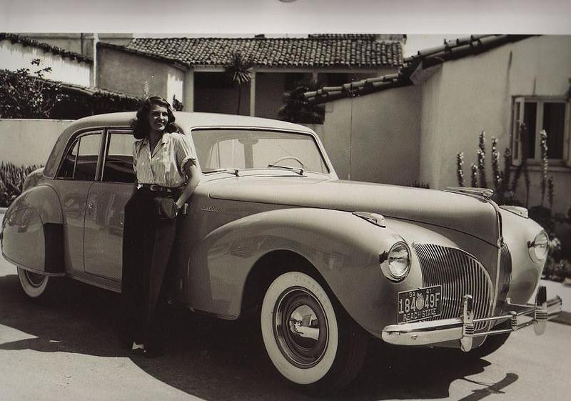 Rita Hayworth 1941 Lincoln Continental
