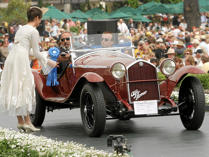 1930 Alfa Romeo 6C 1500 Testa Fissa Zagato Spyder<br /> owned by Lawrence Auriana from Stamford, Connecticut<br /> 1st Class E-3 (Alfa Romeo 6 Cylinder to 1933)
