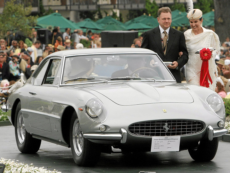 1963 Ferrari 400 Superamerica Pininfarina Coupe<br /> owned by Peter and Kacey McCoy from Beverly Hills<br /> 2nd Class M-1 (Ferrari Grand Touring)