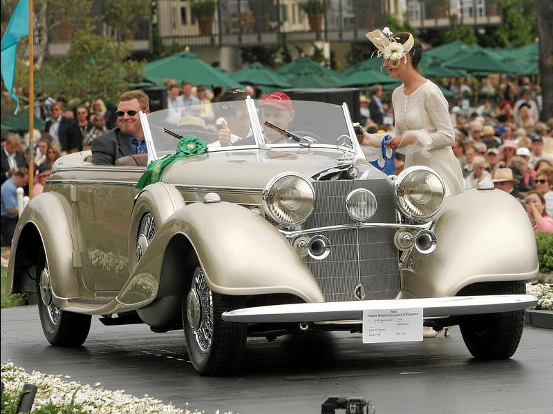 1938 Mercedes-Benz 540K Tourenwagen<br /> owned by Edgar M. Masters from Copake Falls, New York<br /> 1st Class I (Mercedes-Benz Prewar)
