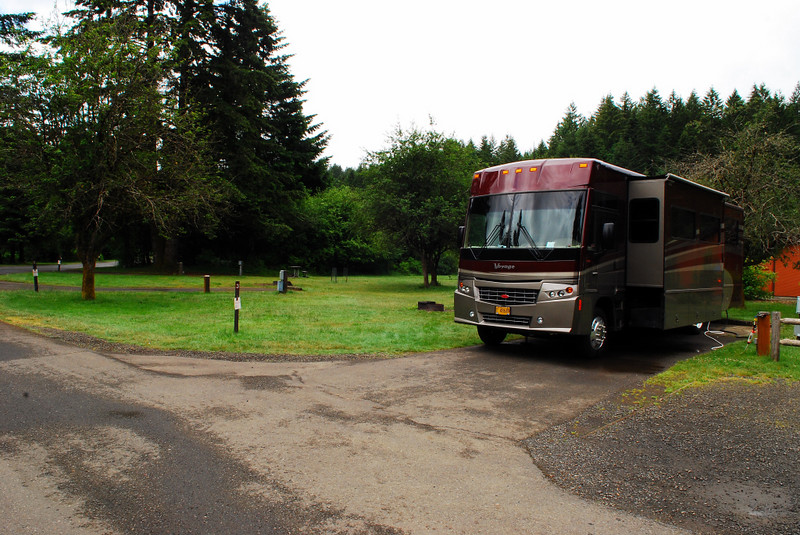 Our camp site at Silver Falls State Park,  B-3.
