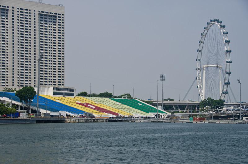 Marina Bay Floating Platform and Singapore Flyer