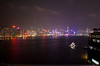 NIgh skyline of Hong Kong.