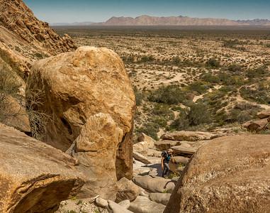 Hiker near El Camino Del Diablo #4