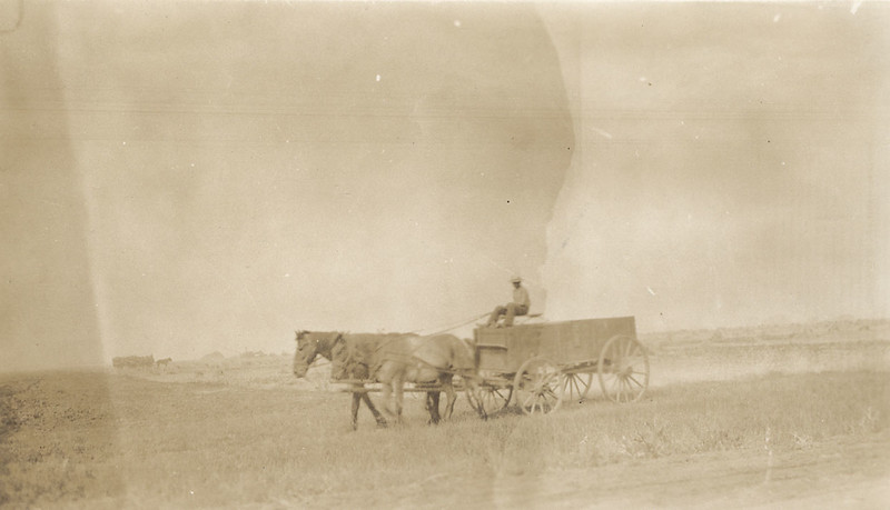 Belgian farmer near Bruxelles, Manitoba