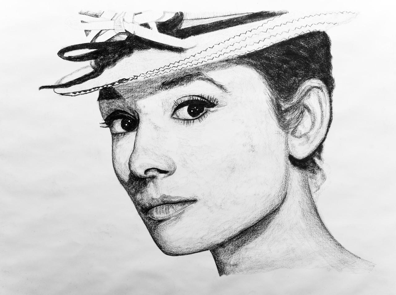 """Audrey Hepburn 24""""x36"""""""