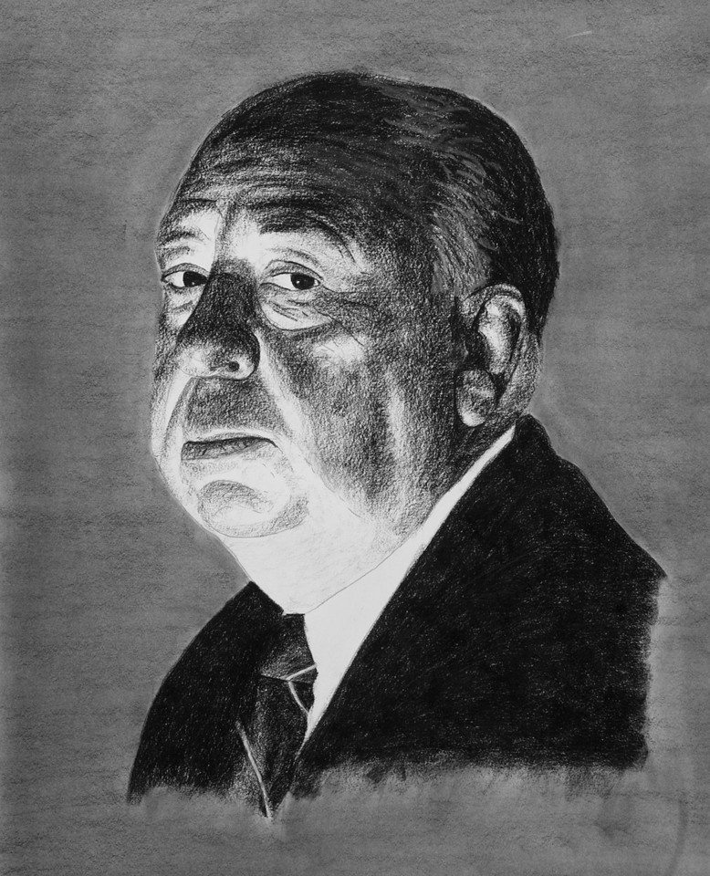 "Alfred Hitchcock 28""x38"""