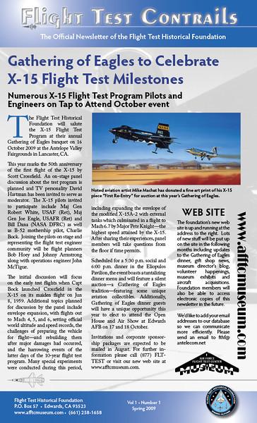 Flight Test Contrails, Vol I, No 1