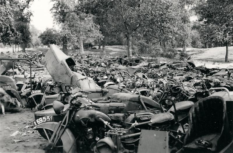 Abandoned motorbikes