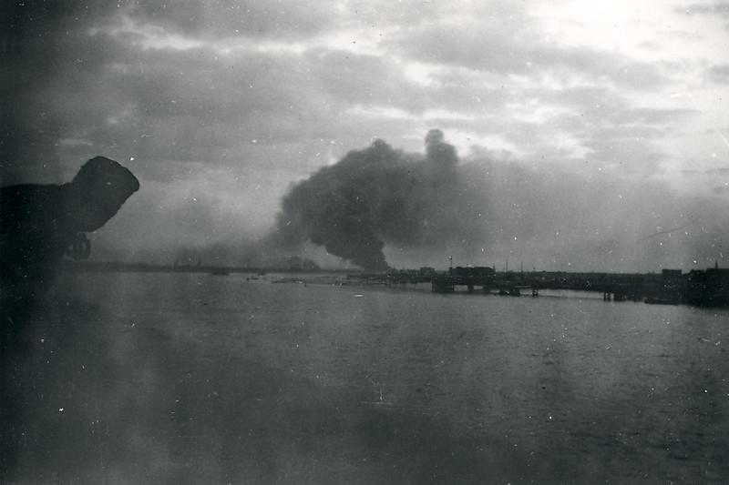Dunkirk ablaze