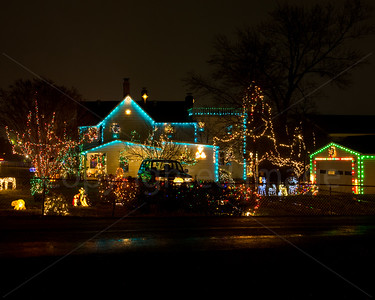Christmas lights in Vienna, Virginia