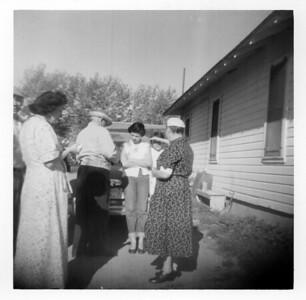 Iris,Judd, Kathleen, Lorraine Wick, Grandpa Bert and Gradma Ida McCready, August 1956