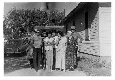 Grandpa Bert & Esther McCready, Lorraine, Kathleen & Iris Wick, Grandma Ida, Tom McCready August 1956.