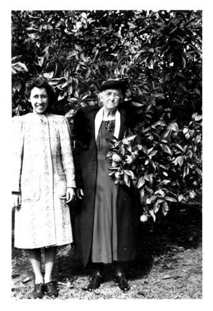 Sophie Scott and Grandma Oline Hopland, undated.