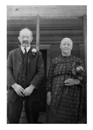 Mr & Mrs Peter Madison, Sr., Blooming Prairie, MN, late 1890s.