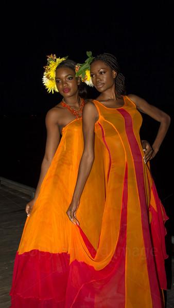 Ladies in orange