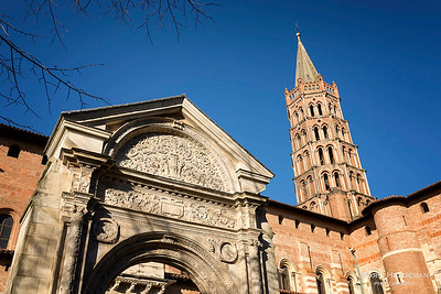 Toulouse, Haute-Garonne -12th century romanesque basilica of Saint-Sernin