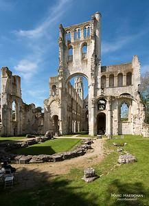 Jumièges,  Seine-Maritime - Benedictine abbey, c. 1040-1067