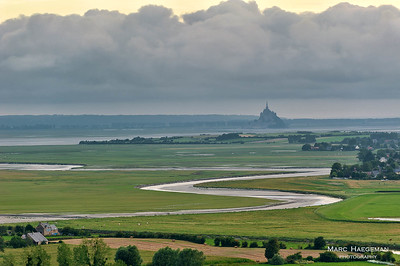 The Mont-Saint-Michel bay seen from Avranches