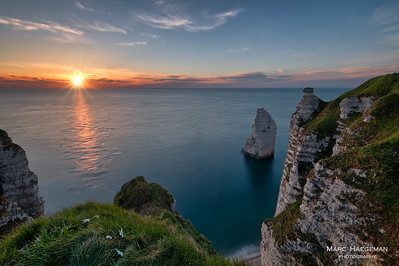 Sunset in Etretat, Seine-Maritime