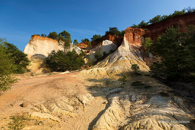 Rustrel, Vaucluse - ochre cliffs in Le Colorado Provençal