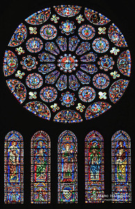 The rose window of the south transept (1221-1230), the vision of the Apocalypse and the union of the two Testaments