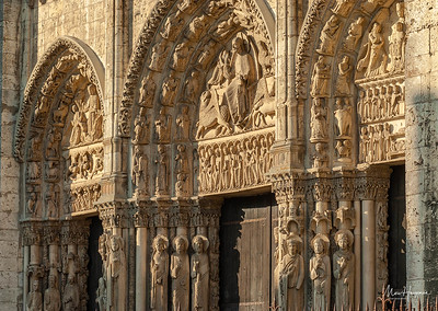 The Royal Portal on the west façade (1145-1155)