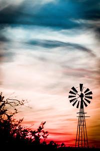 Red, White & Blue Sunset