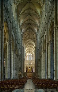 General view of the nave and choir, 1220-1269