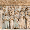 Portal of the Last Judgment, the redeemed are received in paradise, c. 1260