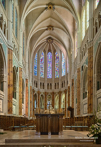 The choir (completed 1220), after its restoration from 2009-2010