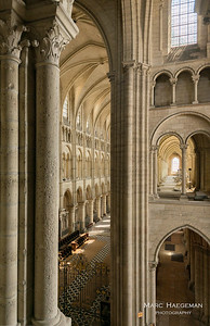 View into the choir from the south transept tribune (c. 1165-1175)
