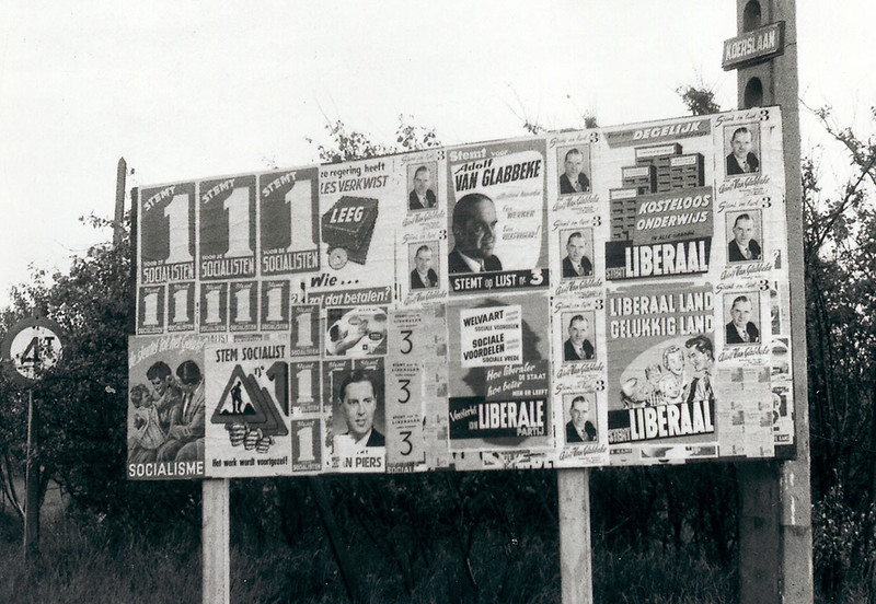 Posters for the elections of 1958