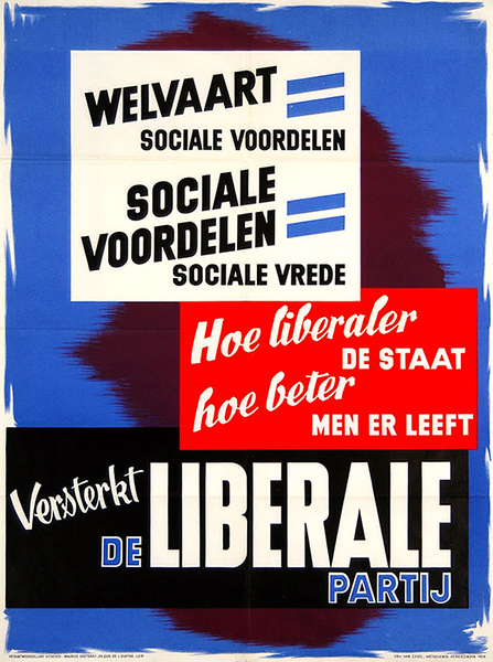 Liberal Party, poster for the election campaign of 1958
