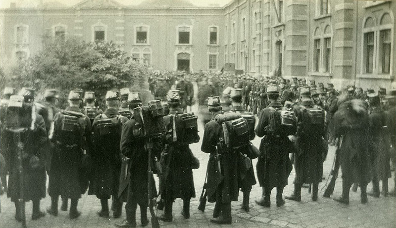 The 7th Line in Antwerp ready for action (4 August 1914)