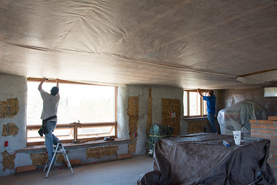 Installing Insulation Netting #5