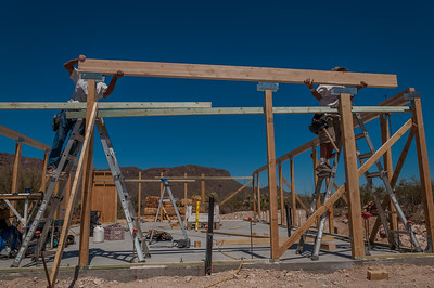Installing a Beam, West Side