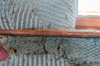 Screws to Anchor Copper Pipe Window Sill Border #3