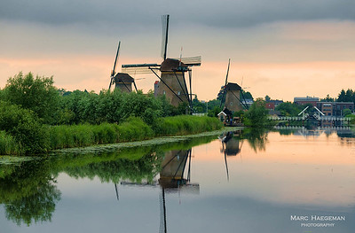 18th-century windmills of Kinderdijk