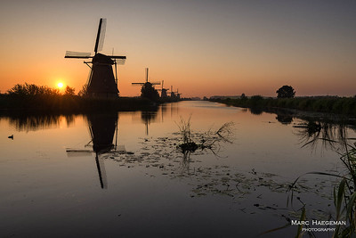 Sunrise on the Kinderdijk