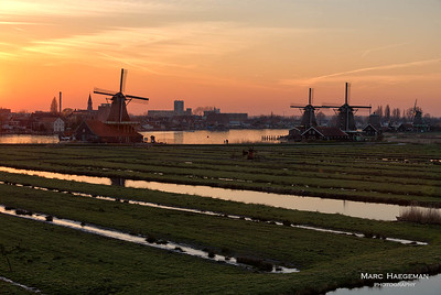 Sunset at the Zaanse Schans