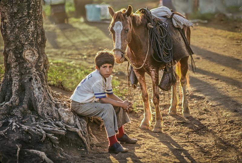 Nicaraguan Boy and Horse