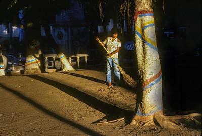Nicaraguan Boy Sweeping