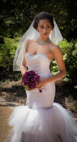 Ellen in a wedding gown